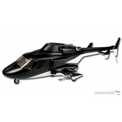 Fusoliera classe 500 con carrelli retrattili Airwolf per T-rex 500 Scale Fuselage Spec: Black