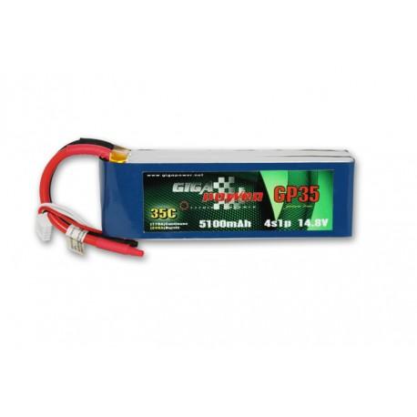 Batteria lipo GigaPower GP51004S 14,8V 5100mAh 4Cell 35C
