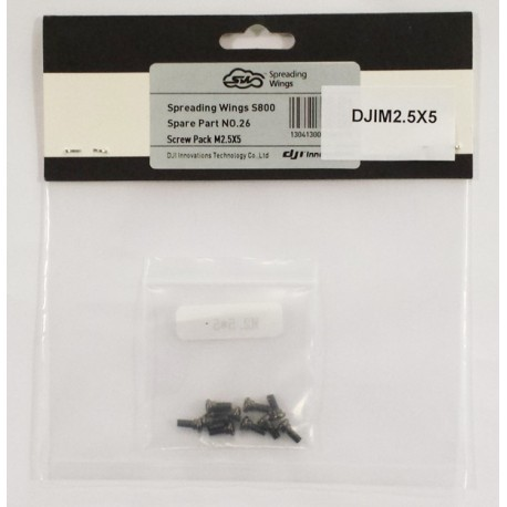 Ricambio DJI DJIM3x8  DJI Screw Pack M3x8 10 pezzi Screw fix frame