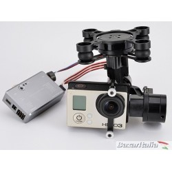 Gimbal 3 Axis Brushless Rctimer Orion H4-3D per Gopro con AlexMos 32 bit Versione applicabile a tutti i droni