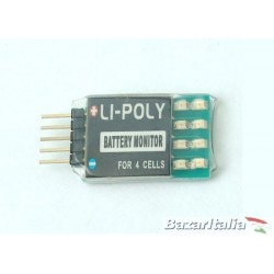 Monitor per batterie LiPo PM-4C scala led per lipo 4 Cell AS021