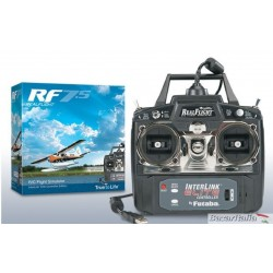 Bellissimo simulatore di volo rc REAL FLIGHT 7.5 con  RADIO MODE 1  INTERLINK