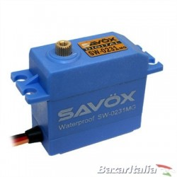 Servocomando Savox SW-0231MG Waterproof High Torque STD Metal Gear Servocomando resistente all'acqua