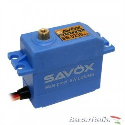 Servocomando digitale Savox SW-0230MG Waterproof HV Metal Gear Servocomando resistente all'acqua